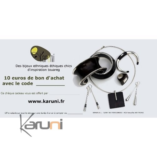ch que cadeau en ligne bijoux d coration boutique karuni 10 euros. Black Bedroom Furniture Sets. Home Design Ideas