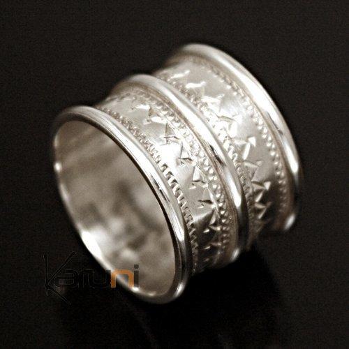 bijoux touareg ethniques argent bague anneau alliance large grav homme femme 3 lignes 02. Black Bedroom Furniture Sets. Home Design Ideas