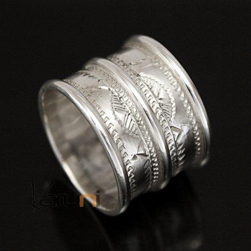 bijoux touareg ethniques argent bague anneau alliance large grav homme femme 3 lignes 04. Black Bedroom Furniture Sets. Home Design Ideas