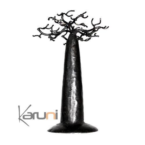 arbre bijoux porte bijoux design baobab rond 18 cm m tal recycl madagascar parfait pour. Black Bedroom Furniture Sets. Home Design Ideas