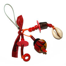 TOUBAB PARIS - Bijou de portable fantaisie Mini Grigri rouge