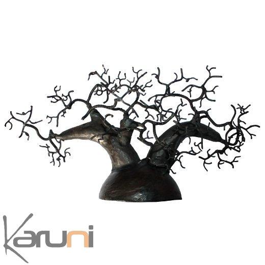 arbre bijoux porte bijoux design mural c dre 30 35 cm m tal recycl baobab madagascar. Black Bedroom Furniture Sets. Home Design Ideas