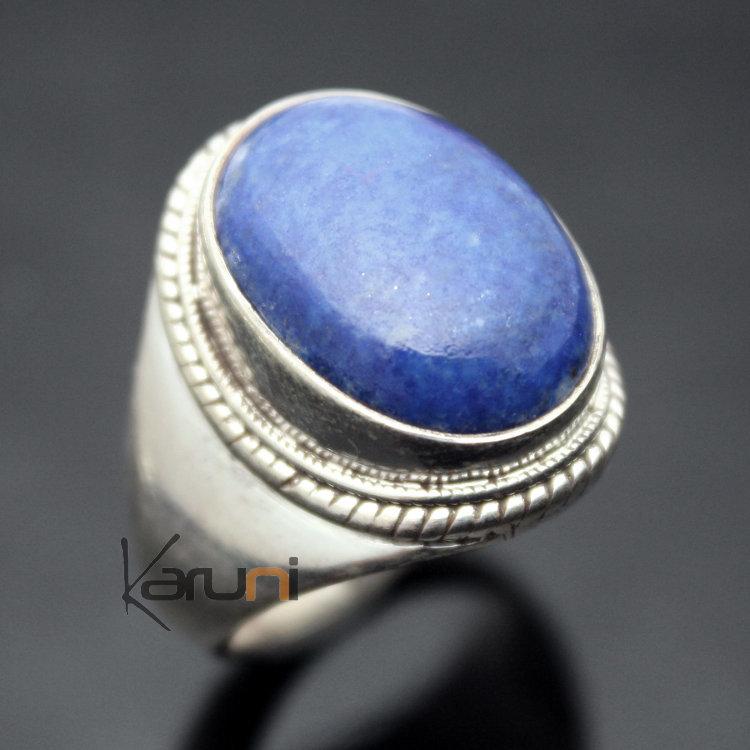 Bague en argent lapis lazuli