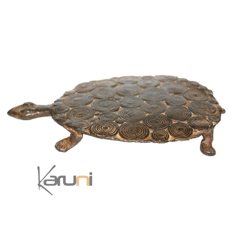 art dogon bronze animal tortue sculpture africain mali d coration ethnique afrique plate 15 cm. Black Bedroom Furniture Sets. Home Design Ideas