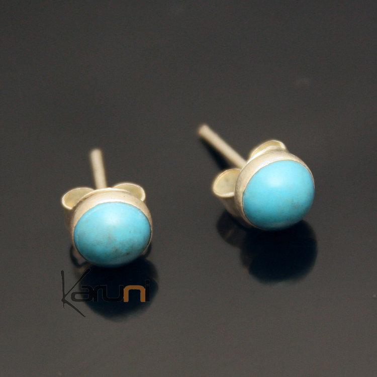 bijoux ethniques indiens boucles d 39 oreilles en argent 925 41 petits clous turquoise n pal. Black Bedroom Furniture Sets. Home Design Ideas
