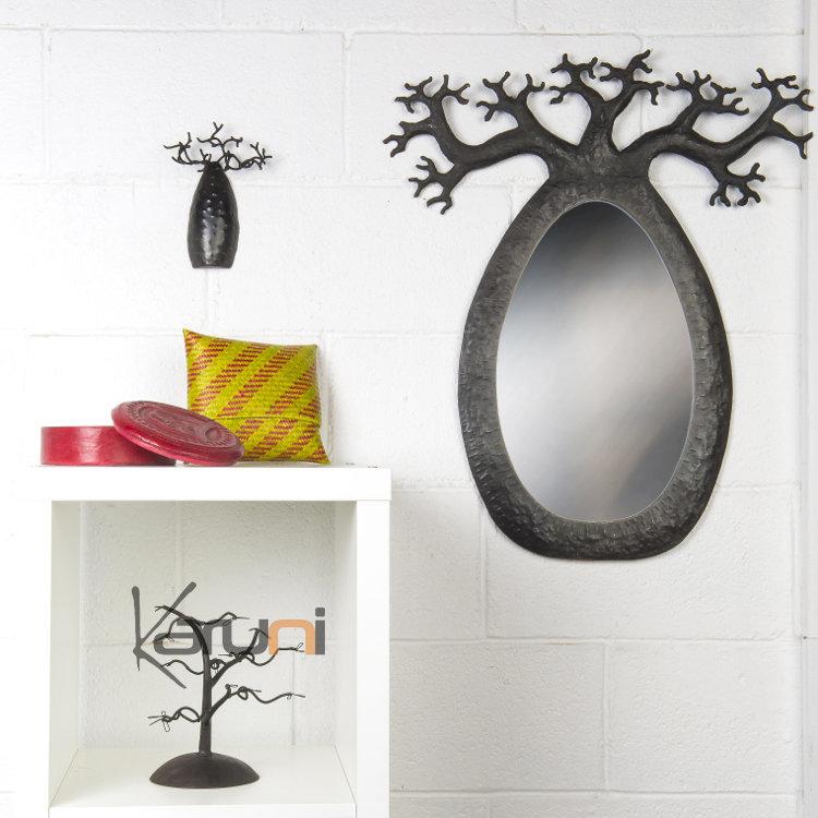 arbre bijoux porte bijoux mural baobab 12 15 cm bomb m tal recycl madagascar. Black Bedroom Furniture Sets. Home Design Ideas