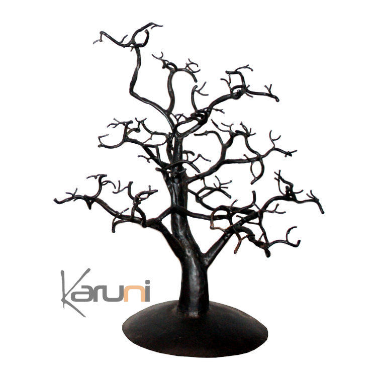 arbre bijoux porte bijoux design arbre 30 35 cm branches larges m tal recycl baobab madagascar. Black Bedroom Furniture Sets. Home Design Ideas