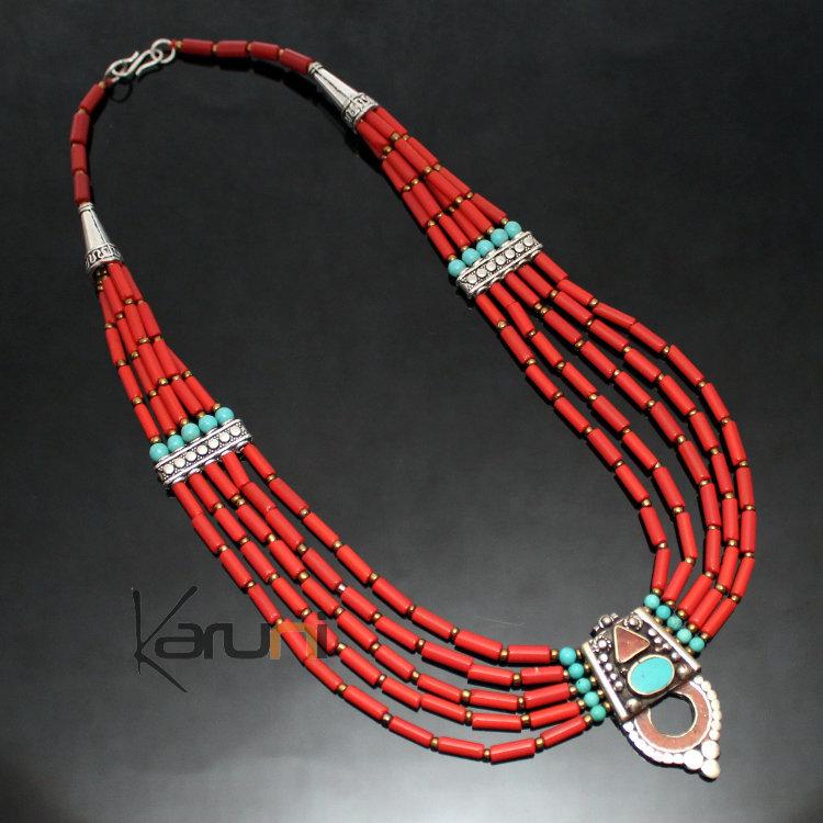 collier perle corail