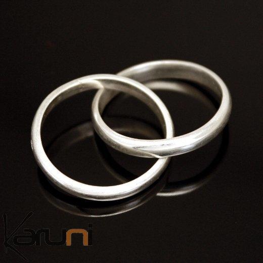 Bague anneau fin argent