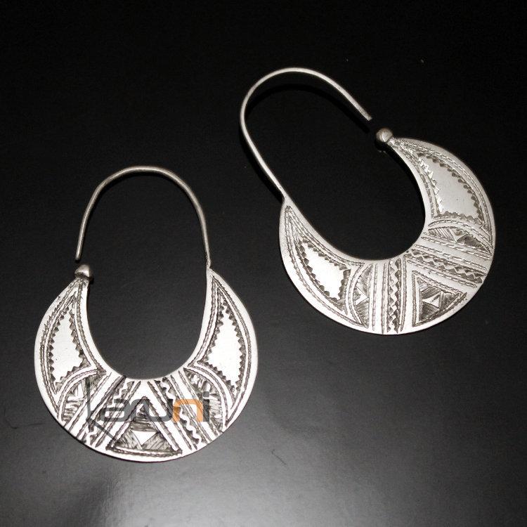 Boucles d'oreilles ethniques en argent