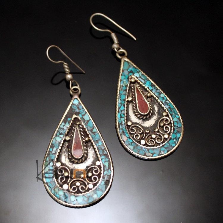 Boucles d'oreilles en or marocaines