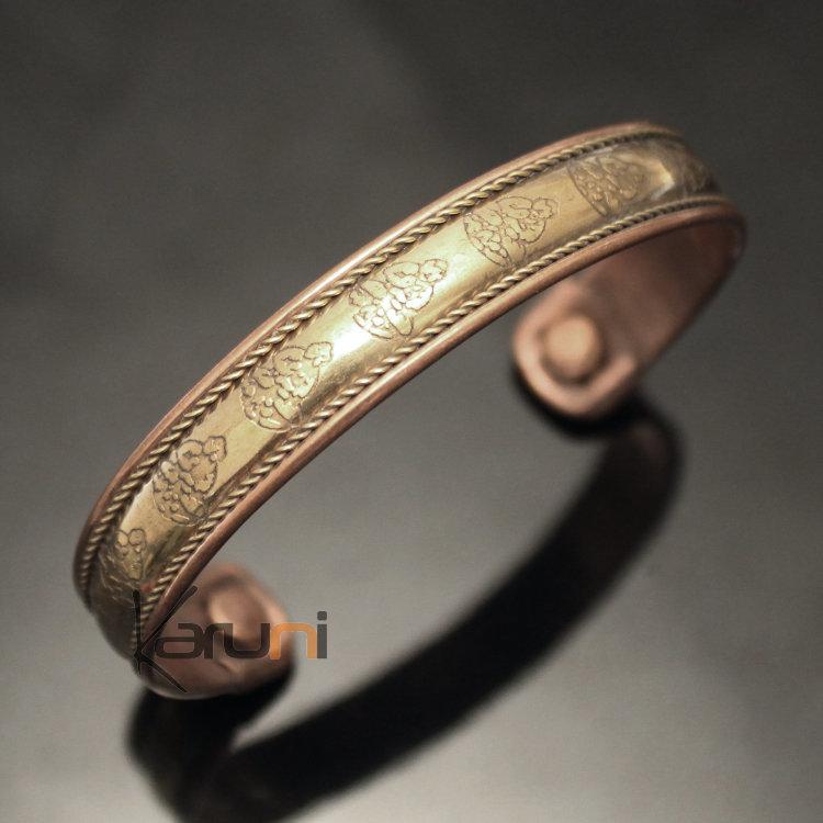 bijoux ethniques indiens bracelet jonc en cuivre bronze homme femme nepal 07 plat bouddha. Black Bedroom Furniture Sets. Home Design Ideas