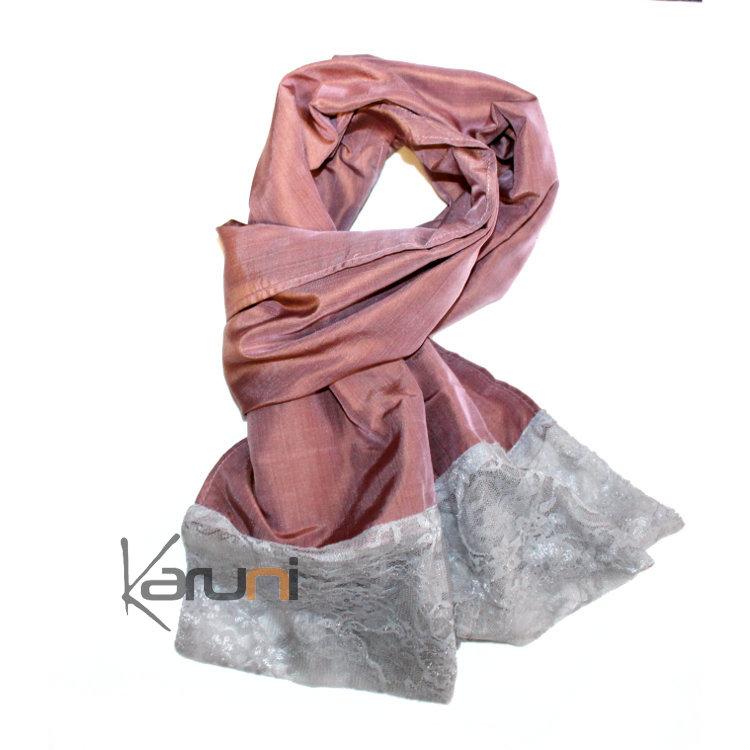 Foulard femme rose echarpe en coton pour femme   Magorium b515836c9e1