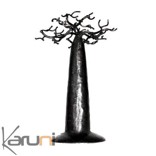Arbre À Bijoux Porte-Bijoux Design Baobab Rond 18 Cm Métal Recyclé