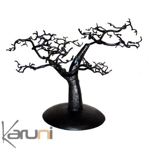 arbre bijoux porte bijoux design c dre 30 40 cm m tal recycl baobab madagascar. Black Bedroom Furniture Sets. Home Design Ideas