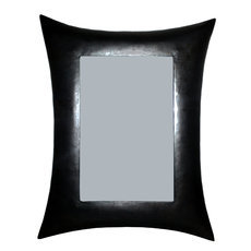 Miroir rectangle bombé métal recyclé Madagascar 35 cm x 45 cm