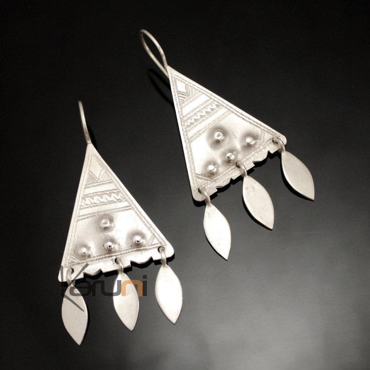 D'oreilles Argent Anciens 19 Touareg Triangle Design En Boucles Large eH2WIYED9