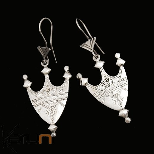bijoux touareg ethniques boucles d 39 oreilles en argent 57 croix du niger selle de chameau. Black Bedroom Furniture Sets. Home Design Ideas