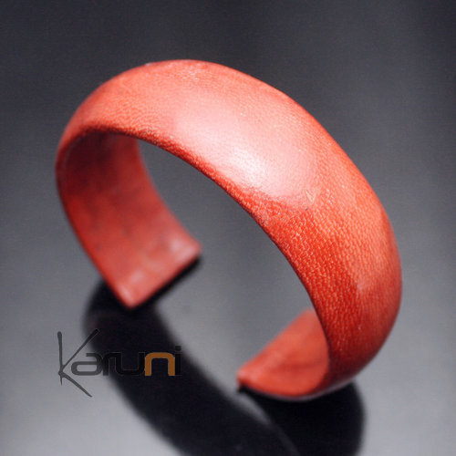 Bracelet en Cuir Large 12 Orange