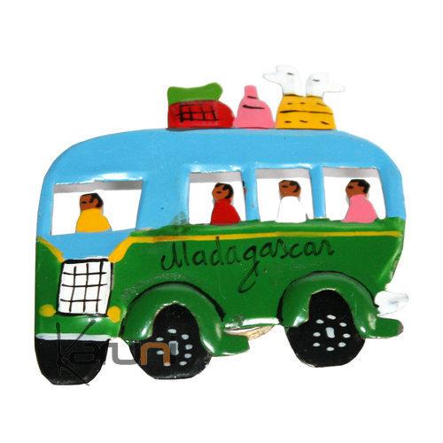 magnet bus frigo aimant madagascar lot de 2. Black Bedroom Furniture Sets. Home Design Ideas
