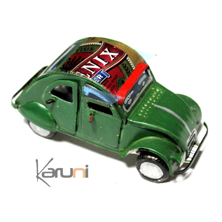 voiture de collection miniature 2 cv citro u00ebn canette recycl u00e9e m u00e9tal 12 cm madagascar
