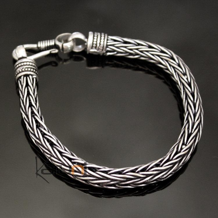 Bijoux Ethniques Indiens Bracelet Chaîne en Alliage Argent Mix DM15 Snake  Serpent