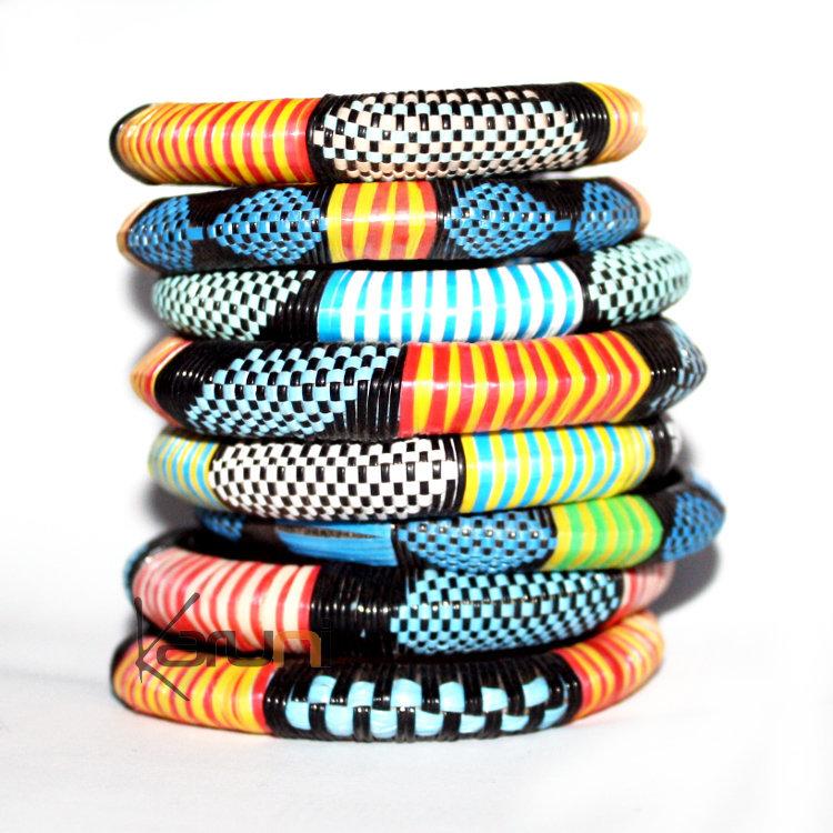 braderie prix le moins cher site officiel Bijoux ethniques africains Bracelet africain en plastique ...