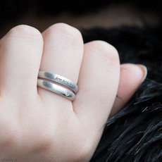 Bijoux Ethniques Design Bague Double Anneau Alliance en Aluminium Diamant Véritable Article 22 Peace Bomb  - Love Is The Bomb