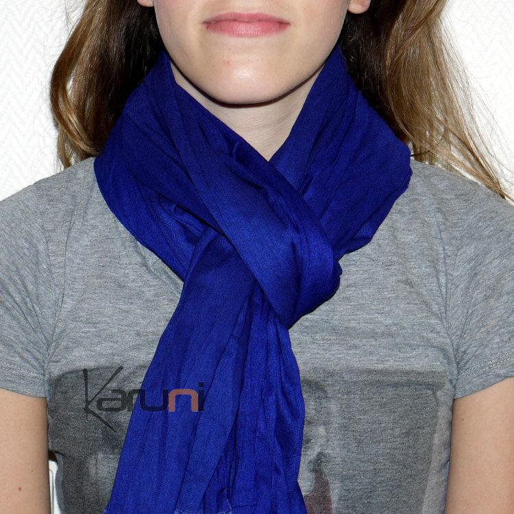 Cheche touareg foulard echarpe coton homme femme bleu véritable niger jpg  750x750 Foulard echarpe b08245cf21b