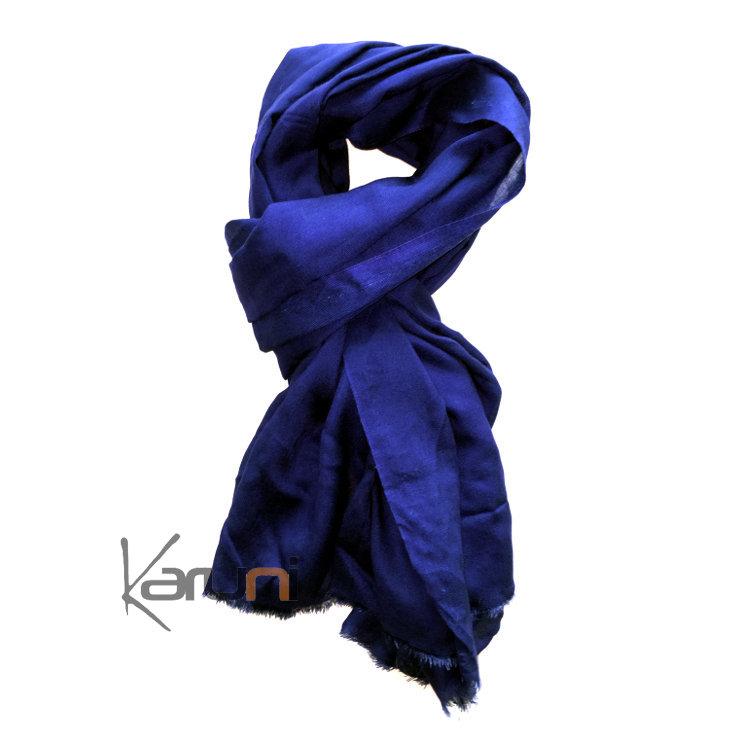 Livraison gratuite dans le monde entier riche et magnifique livraison gratuite Cheche Touareg Foulard Echarpe Coton Homme/Femme Bleu ...