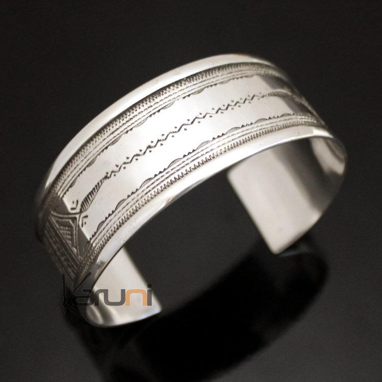 bracelet argent large pour femme