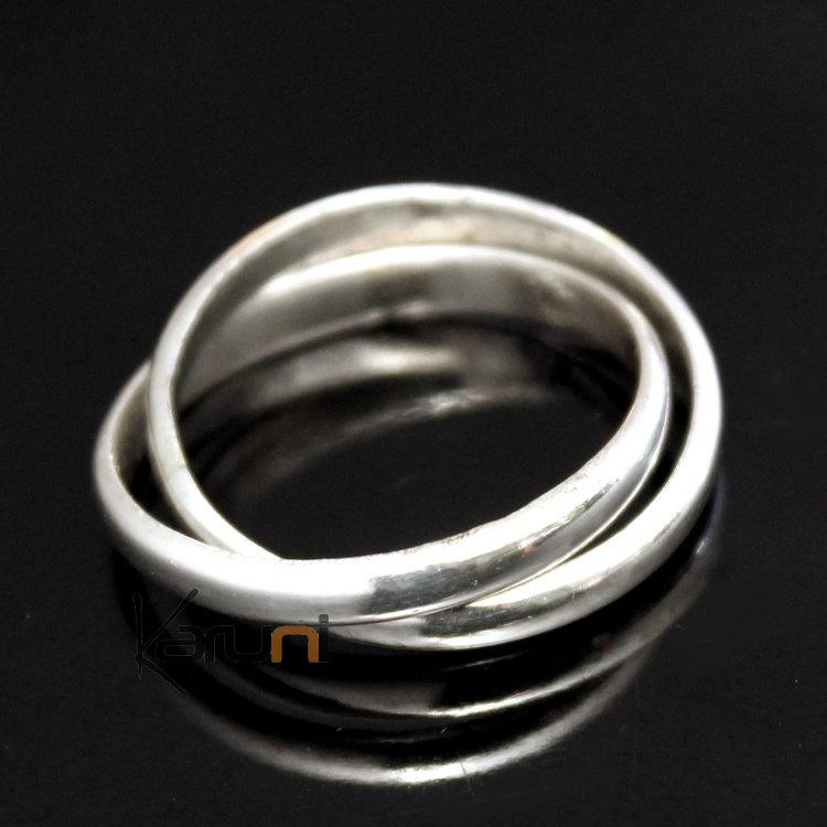 style limité coût modéré 100% authentique Bague Alliance Anneau en Argent Homme/Femme 02 Double Anneau Fin  Inspiration Karuni