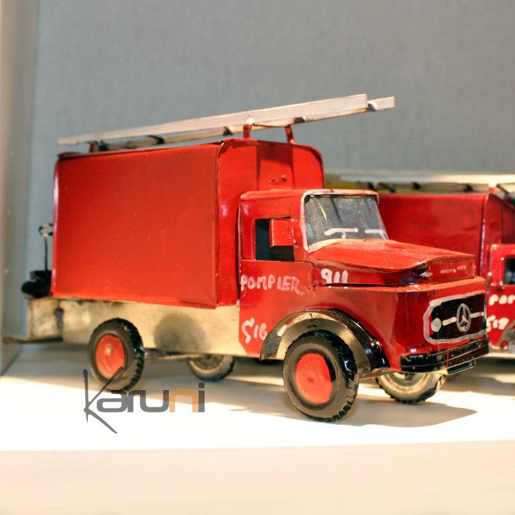 voiture de collection miniature pompier canette recycl e. Black Bedroom Furniture Sets. Home Design Ideas