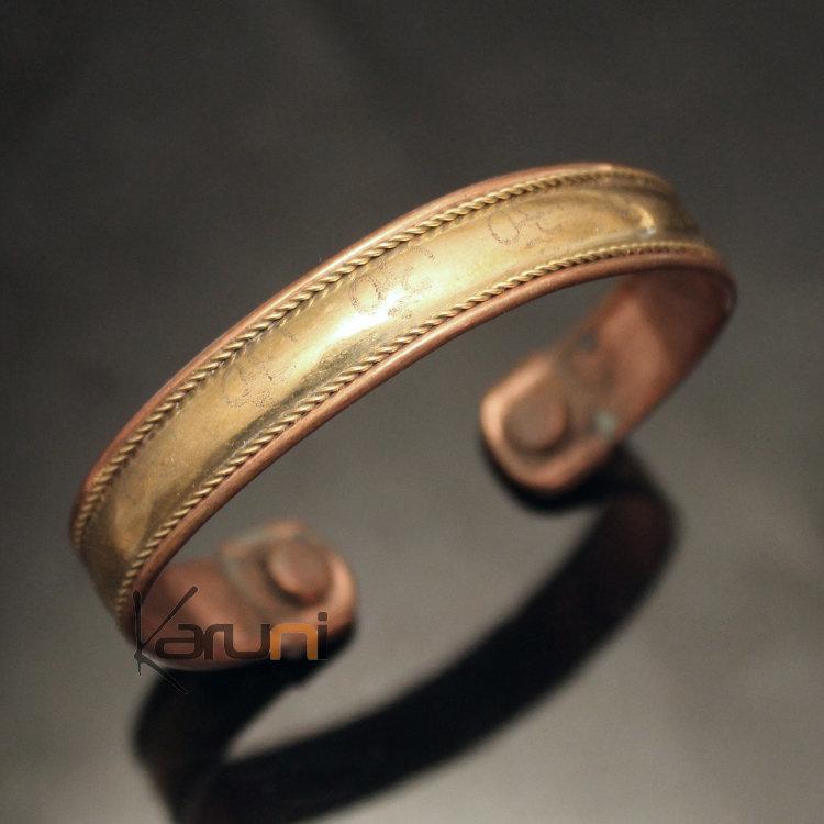 bijoux ethniques indiens bracelet jonc en cuivre bronze homme femme nepal 08 plat om. Black Bedroom Furniture Sets. Home Design Ideas