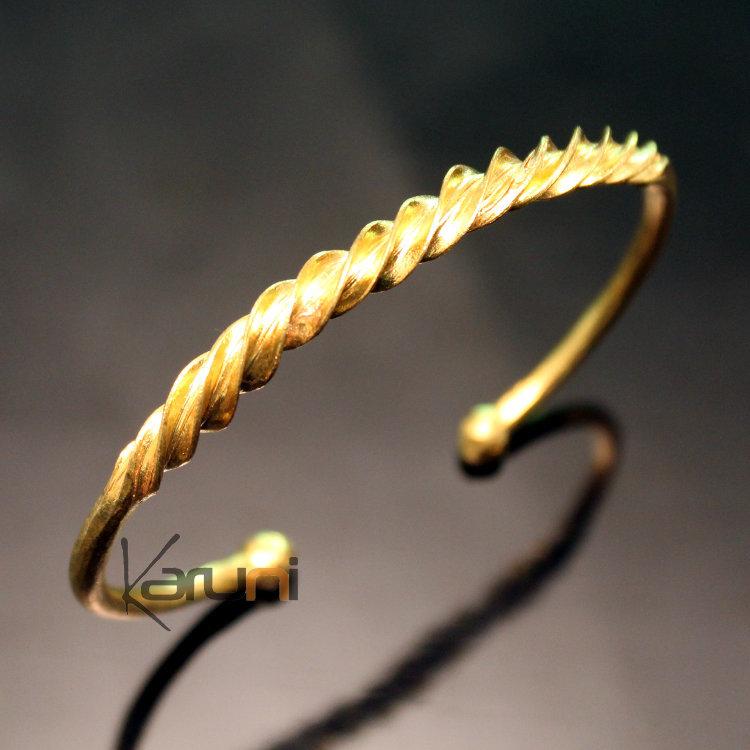 faire les courses pour acheter mieux code promo Bracelet Jonc Peul Réglable Homme-Femme Mali 02 Bronze Torsade