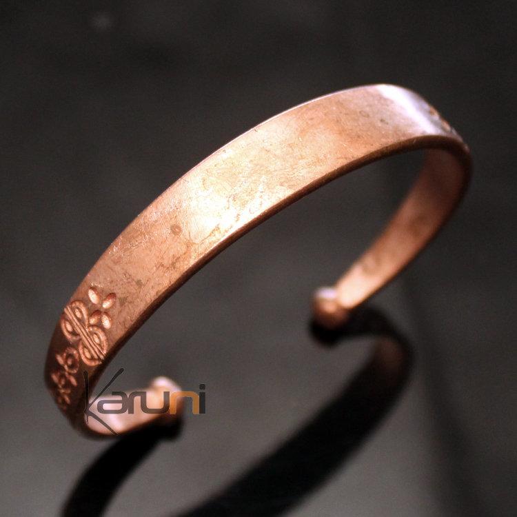design de qualité f96a9 d5ccd Bracelet Gourmette Peul Réglable Homme-Femme Mali 33 Cuivre Gravé