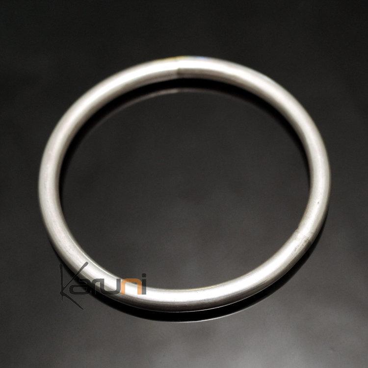 bijoux ethniques indiens bracelet en argent massif 925 inde 65 jonc rond 5 mm. Black Bedroom Furniture Sets. Home Design Ideas