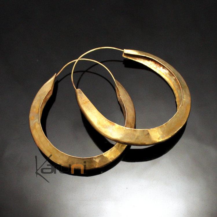 Idée cadeau Bijoux fantaisie Boucles d/'oreilles créole dorées 5 cms