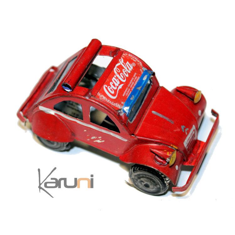 voiture de collection miniature 2 cv citro u00ebn canette recycl u00e9e m u00e9tal 6 5 cm madagascar