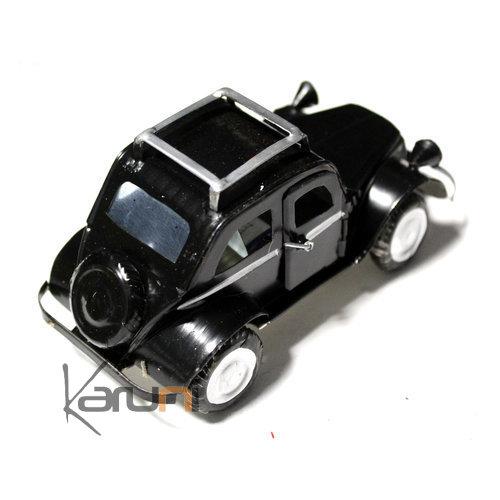 voiture de collection miniature traction citro n canette recycl e m tal 10 cm noir madagascar. Black Bedroom Furniture Sets. Home Design Ideas
