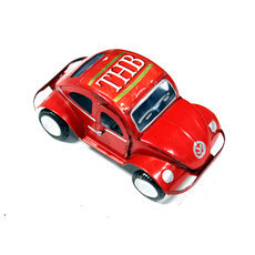 Voiture de Collection Miniature Coccinelle Volkswagen Canette Recyclée Métal 12 cm Madagascar