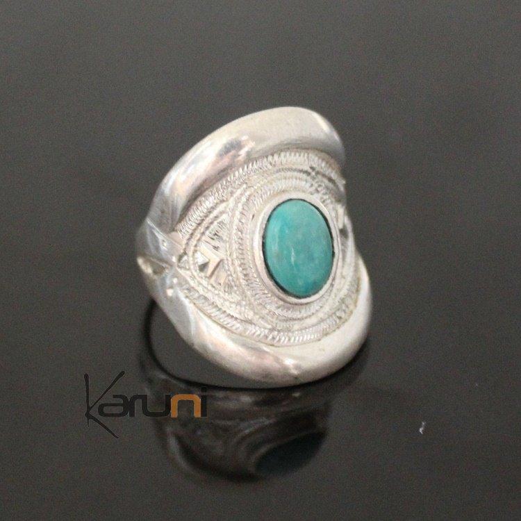 bague en argent pierre turquoise