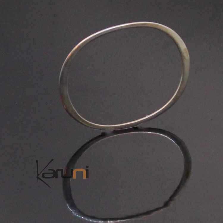 bracelet argent ovale design ann es 70. Black Bedroom Furniture Sets. Home Design Ideas
