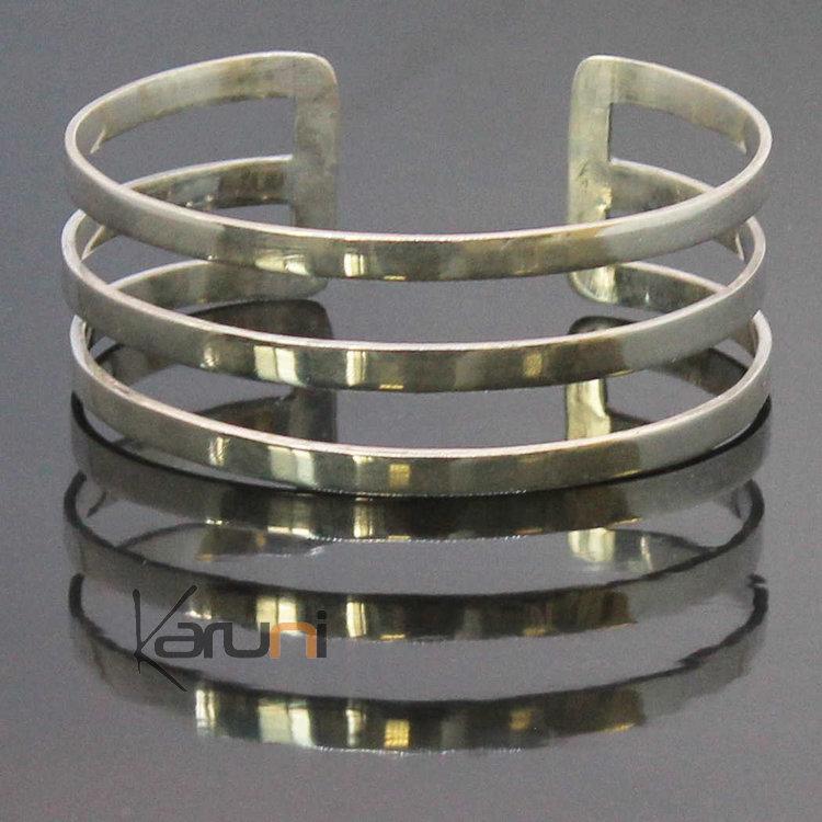 bracelet en argent homme femme 3 lignes. Black Bedroom Furniture Sets. Home Design Ideas
