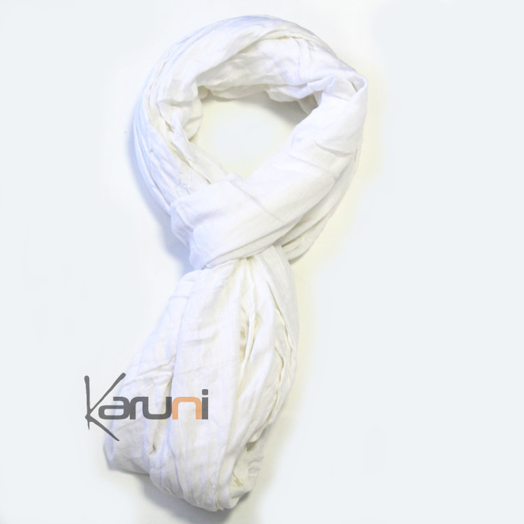 cheap prices presenting cheap sale Cheche Touareg Foulard Echarpe Coton Homme/Femme Blanc Senegal