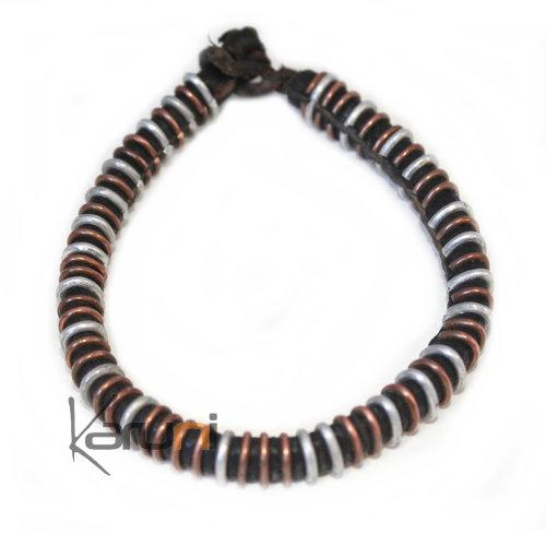 Excellente qualité collection entière sélectionner pour plus récent Bijoux Ethniques Africains Bracelet Touareg en Cuir Africain