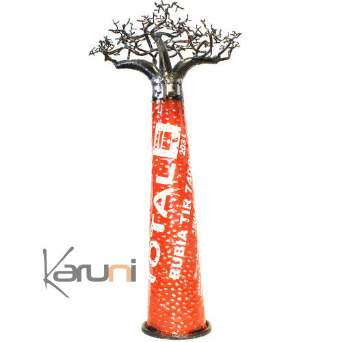 Decoration Industrielle Vintage arbre Baobab Metal Recyclé 60 cm