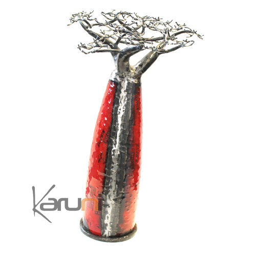 Arbre decoration - design Baobab 85 cm métal recyclé Madagascar