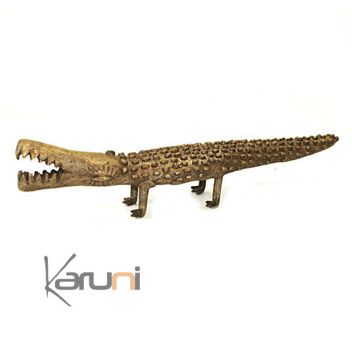 Art Dogon Bronze Crocodile
