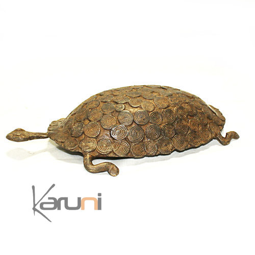 Art Dogon Sculpture Bronze Tortue
